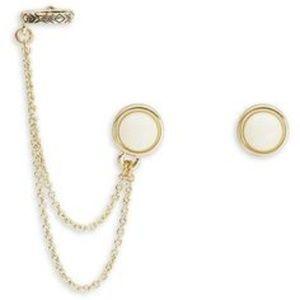 NWT House of Harlow Double Chain Ear Cuff Earrings